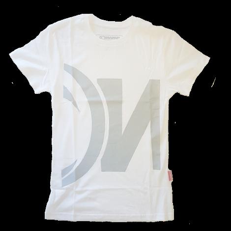 Downwind - T Shirt - Logo Crop - White