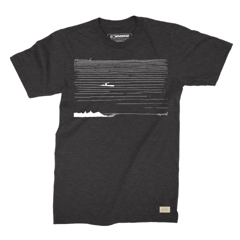 Downwind - T-Shirt - SKI Crusier - Black