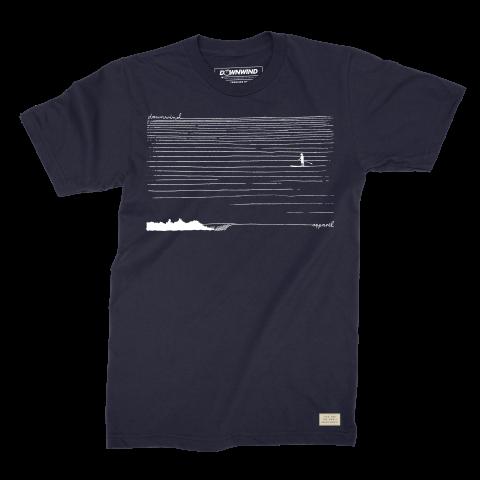 Downwind - T-Shirt - SUP Cruiser - Black