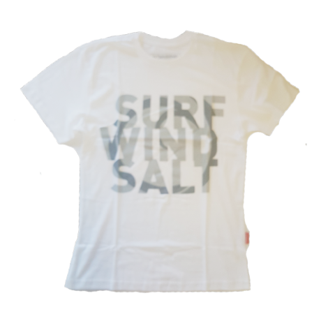 Downwind - T Shirt - Surf Wind Salt - White