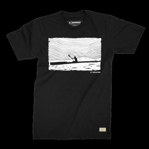 Downwind - T-Shirt - Radar - Black - Large